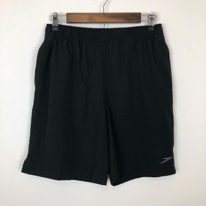 Speedo black swim trunks with underwear small